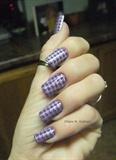 purple herringbone stamp