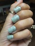 Green swirl stamp