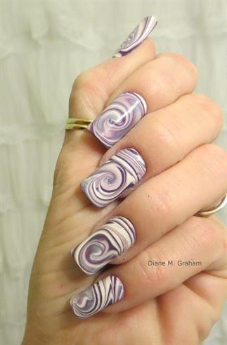 Purple marbled swirls