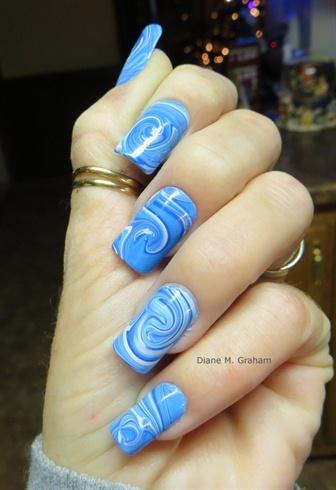Blue swirl marble