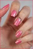 Pink Zebra Nails