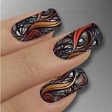 "New Glamstripes Nail Art Style ""Abstrac"""
