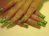 GREEN LEOPARD NAILS