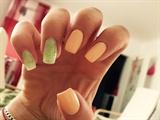 Pastell Orange/ Green Glitter