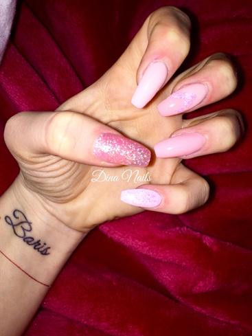 Light Pink And Pastell Cream