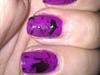 Purple & Black paint splatter