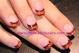 Orange and purple gel french