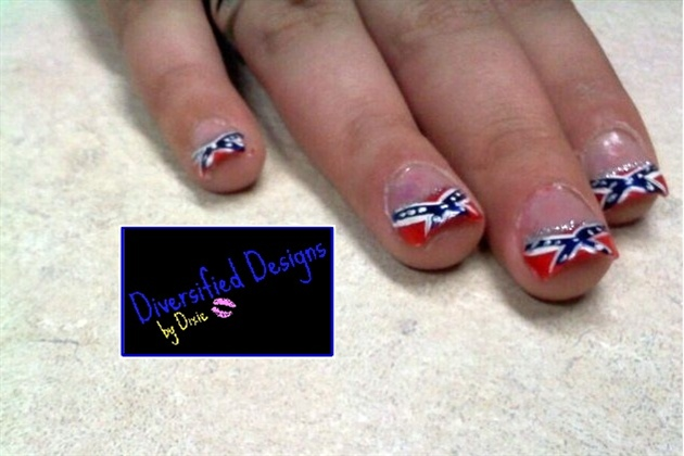 Confederate french nail art gallery confederate french prinsesfo Gallery