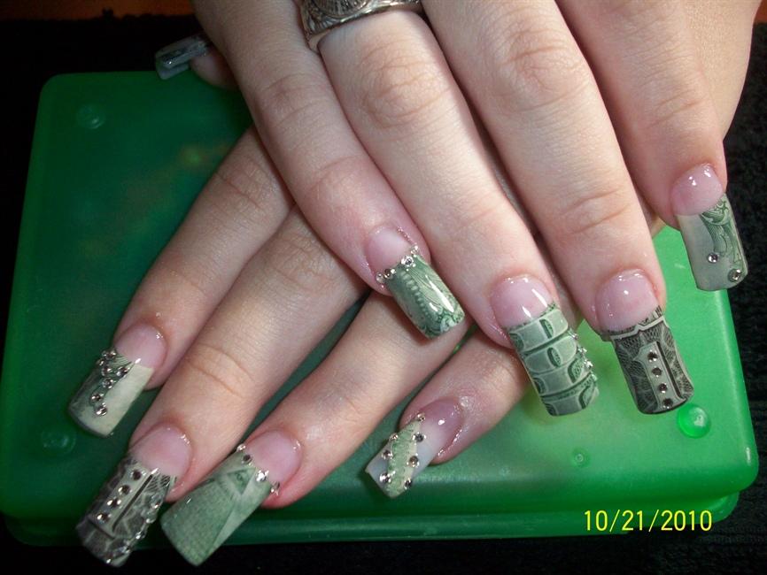 2nd Set Money Nails Nail Art Gallery