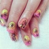 bright fun Mexico nails