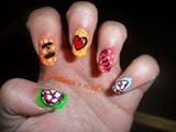 I love Pizza nails