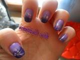 violet sponged nails