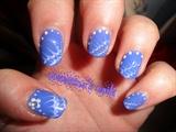crawled violet nails