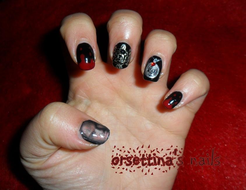 The Vampire diaries nails(Damon) - Nail Art Gallery