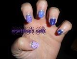 Ombrè violet nails