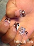 Cheetah Kitty Nails