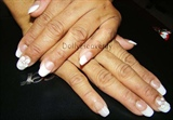 French tips with Flower Accents