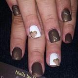 Cute heart fall nails