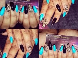 nail art: Cheetah print ballerina nails