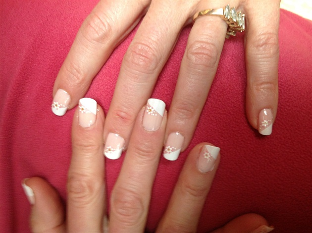 French manicure w/decals