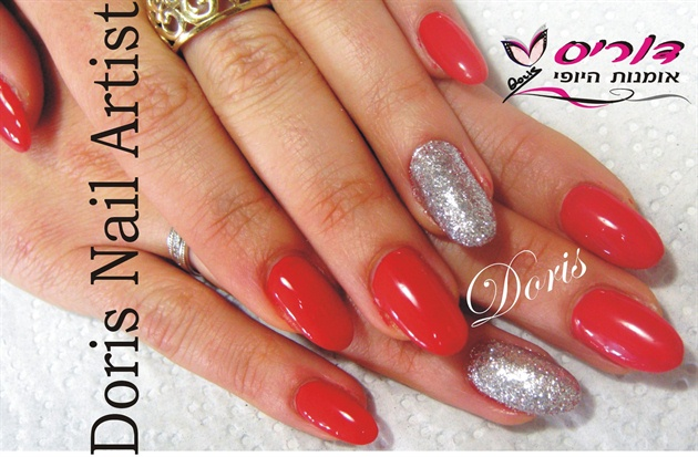 Gel nails red and silver nail art gallery gel nails red and silver prinsesfo Image collections