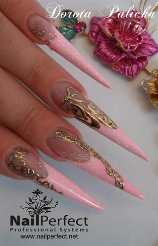 Jewellery nail art by Dorota Palicka