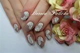 Sugar velvet  nail art by Dorota Palicka