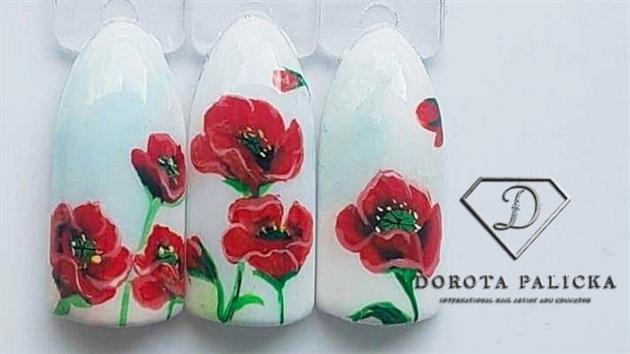 Poppy flowers tutorial