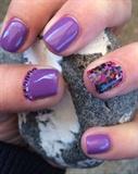 Purple/Glitter Mix/Gems