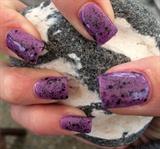 Purple Gel Polish With Black Glitter