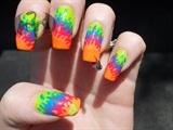 Neon Flames Pierced