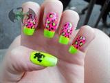 Pink n Green Leopard Frog