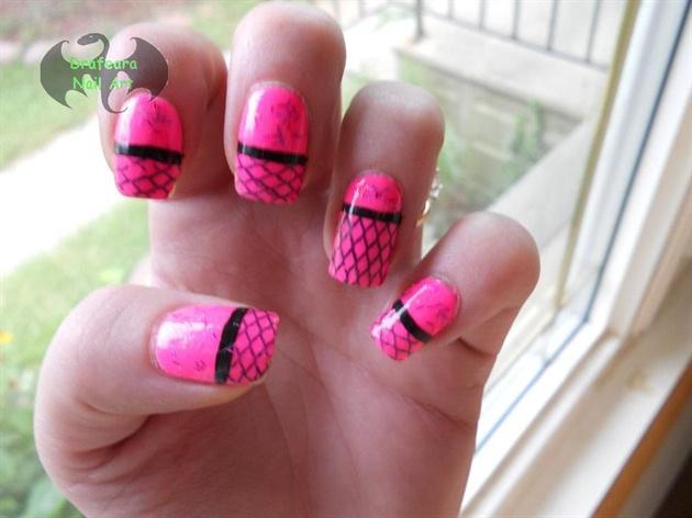 Pink Fishnet Konad