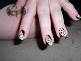 Neon Leopard Print Strip