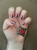 Blood Stained Fangs Nail Design
