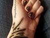 Golden Ink Nail Design