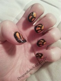Monarch Wings Nail Design
