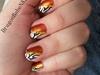 Golden Zebra Nail Design