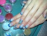 Blue glitter & bows