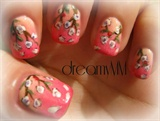 Gradient Cherry Blossoms