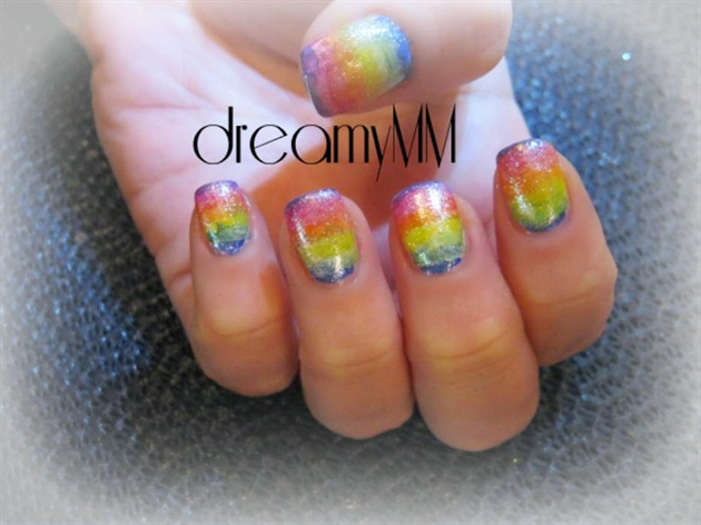 Tie Dye Rainbow Nails