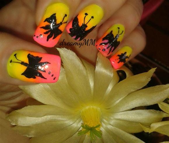 Summer Sunset Butterflies