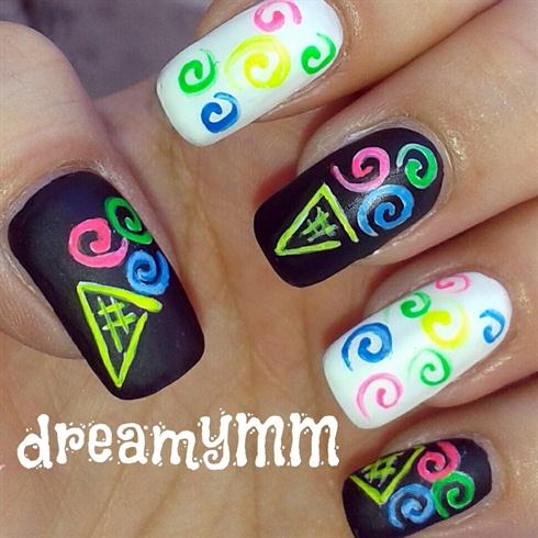 Neon Ice Cream Swirls