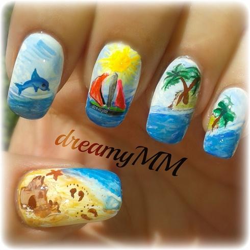 Summer Holiday Nail Art Gallery
