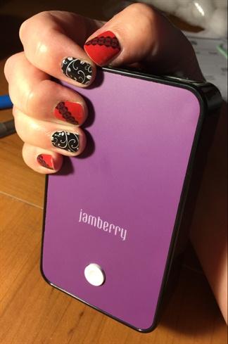 Jamberry Black Floral & Vixen