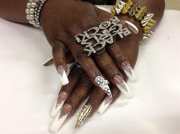 White Diamond Nails