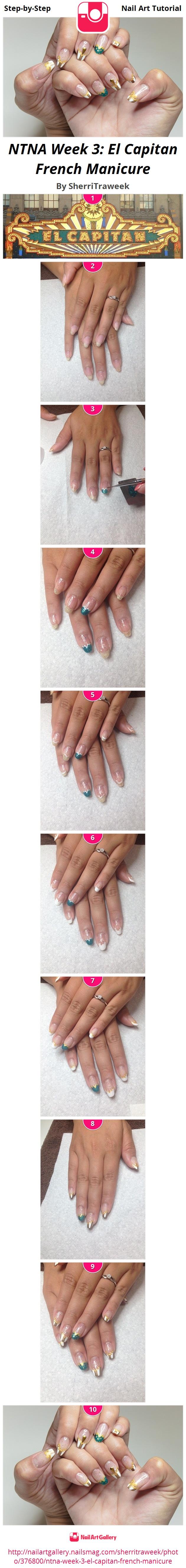 NTNA Week 3: El Capitan French Manicure - Nail Art Gallery