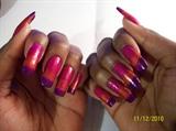 Fuchsia, orange, purple gradient