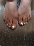 Gold MINX toes