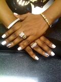 White polish and Silver MINX